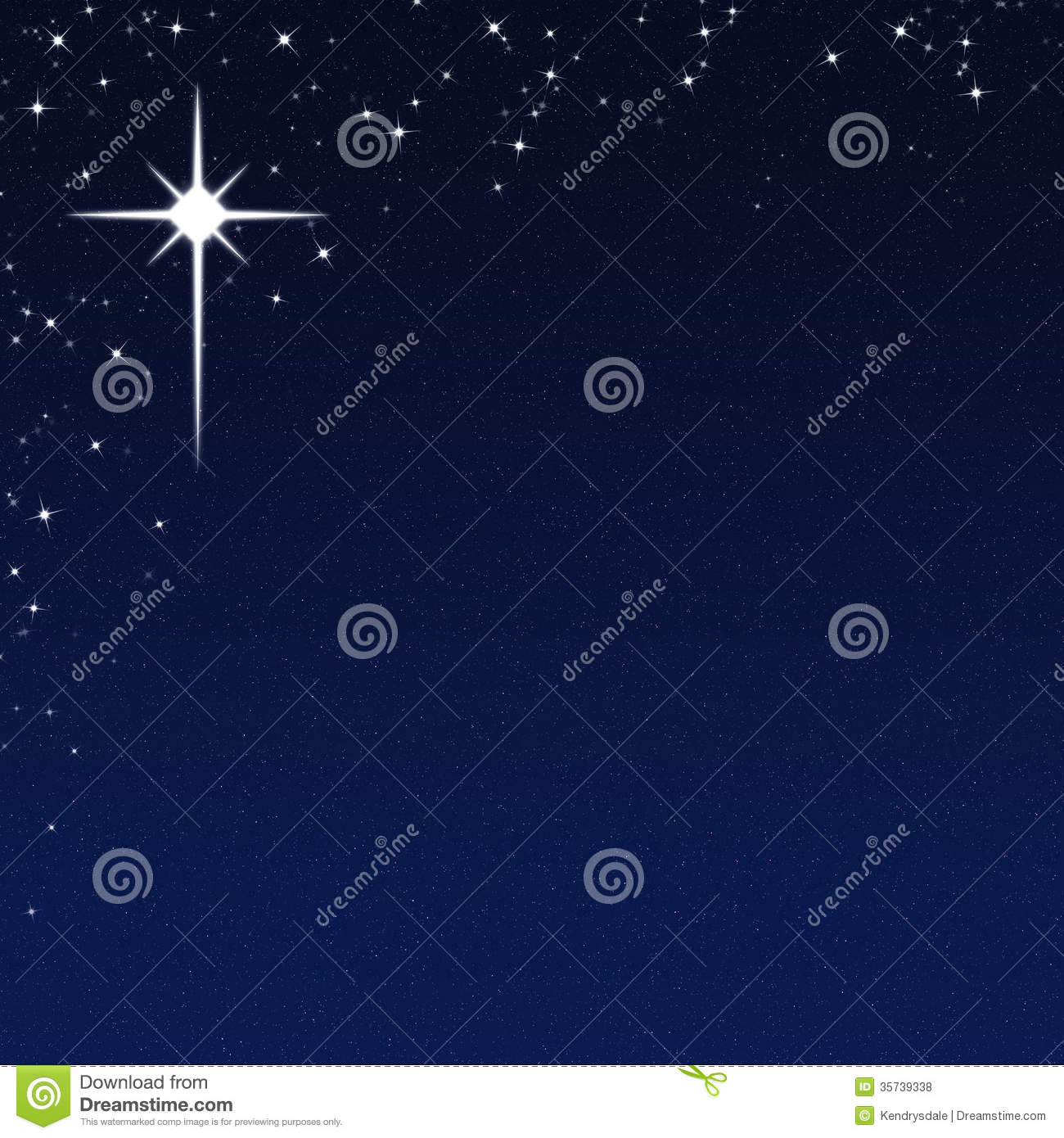Christmas Star On A Starry Night Sky Background Royalty Free Stock ...