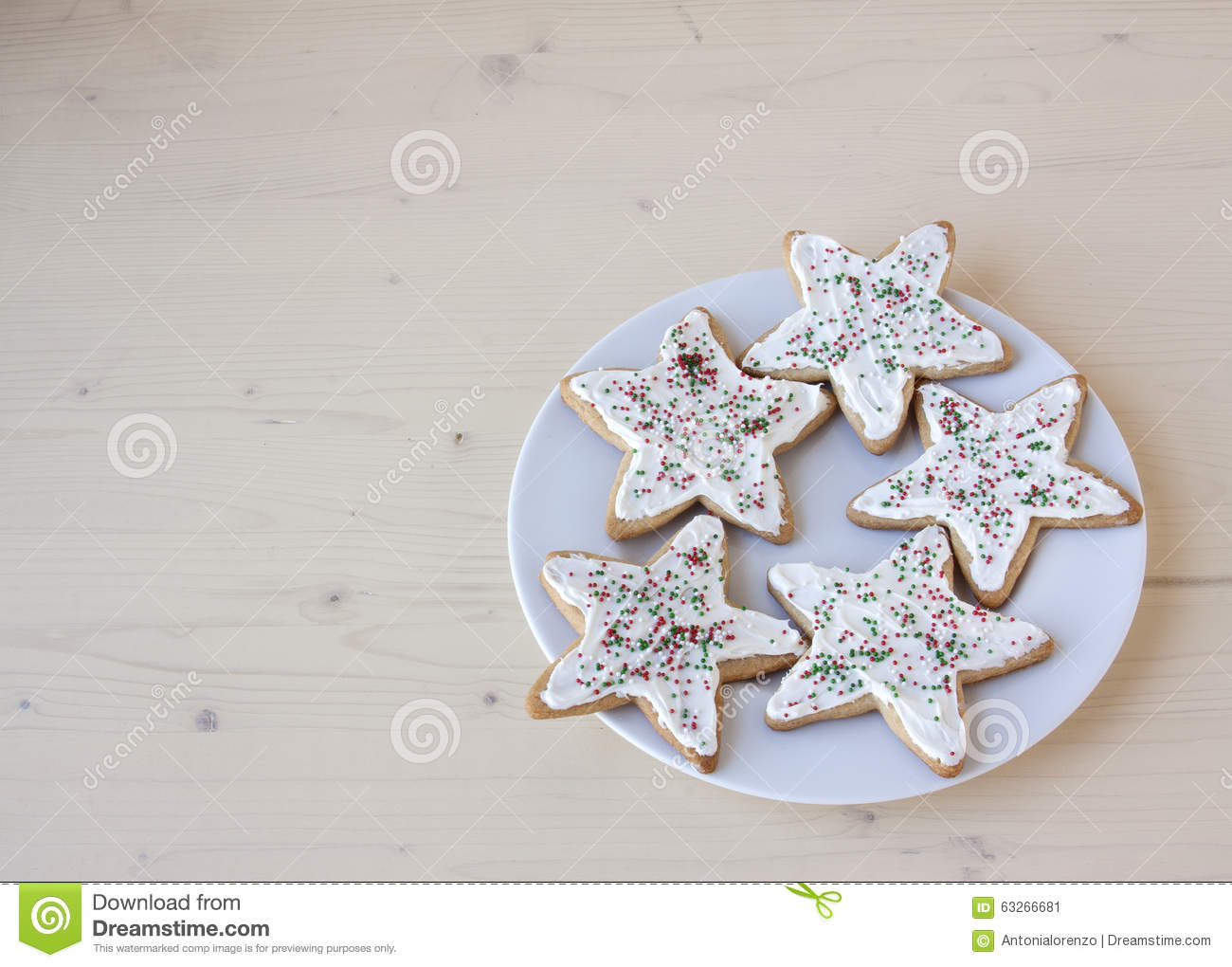 Christmas star sugar cookies stock photo image 63266681