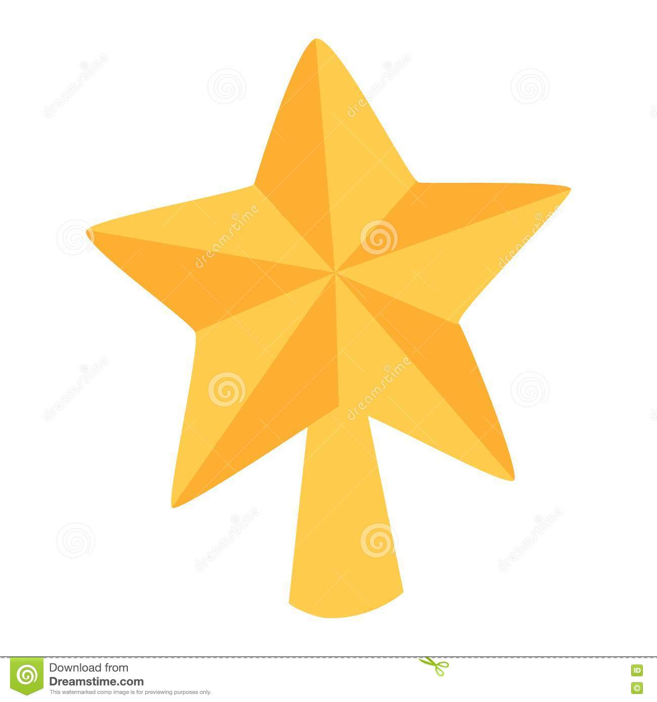 Star For A Christmas Tree: Christmas Star Tree Symbol Vector Stock Vector