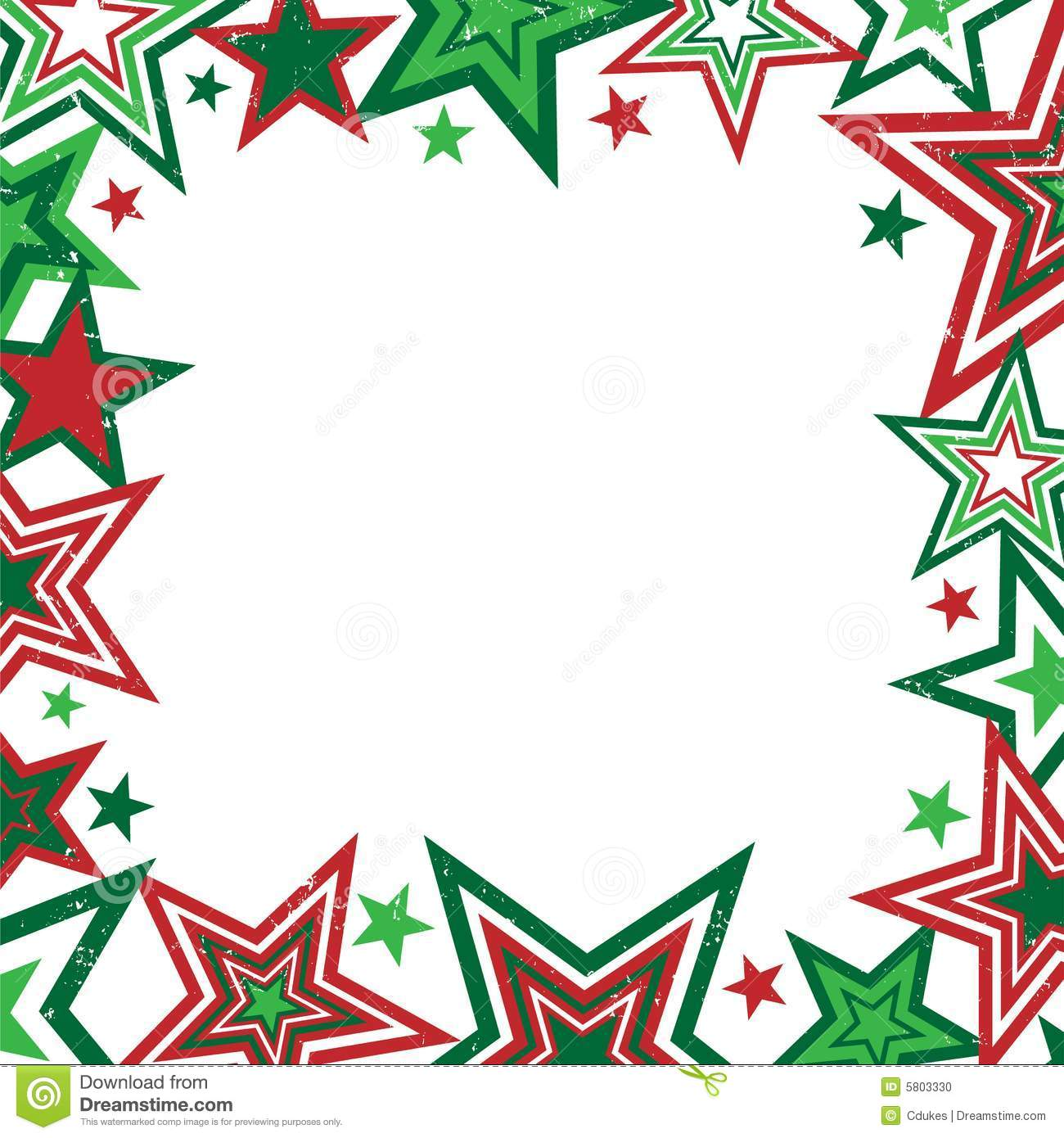 Christmas stars border stock vector illustration of frame