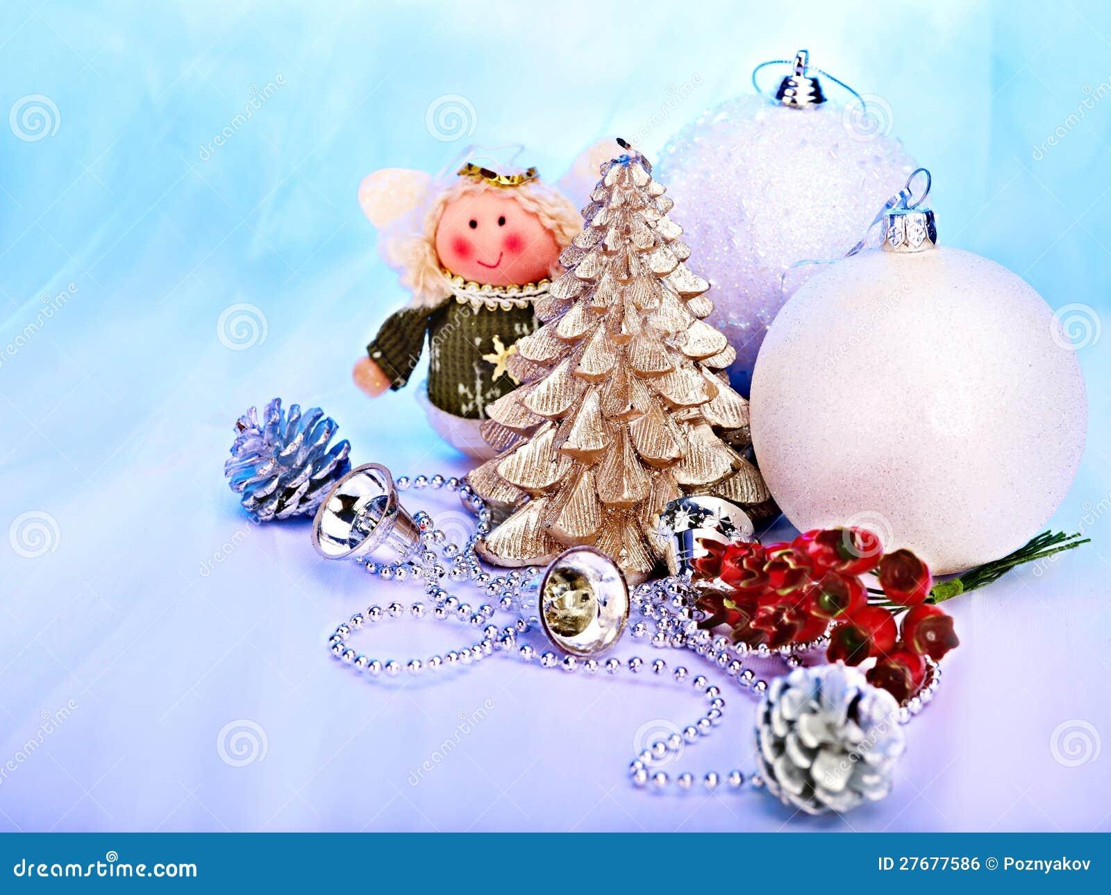 Christmas still life with tree ball stock photo image