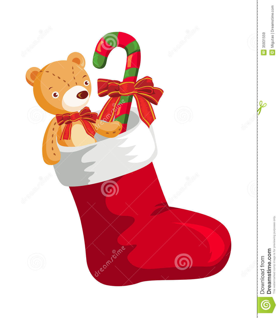 Christmas Toys Cartoon : Christmas stocking stock vector illustration of winter