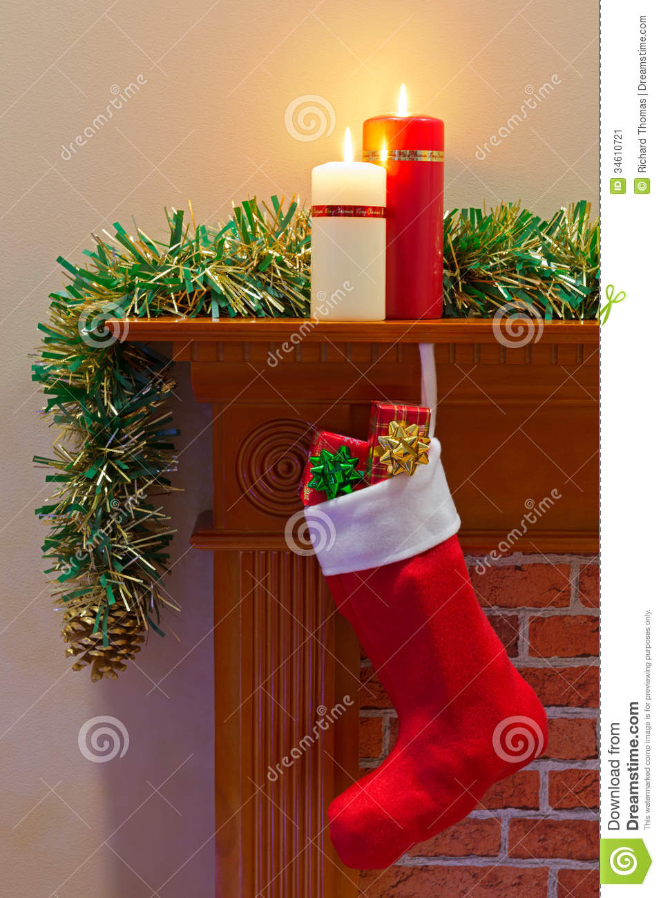 Christmas Stocking Full Of Presents Stock Image Image