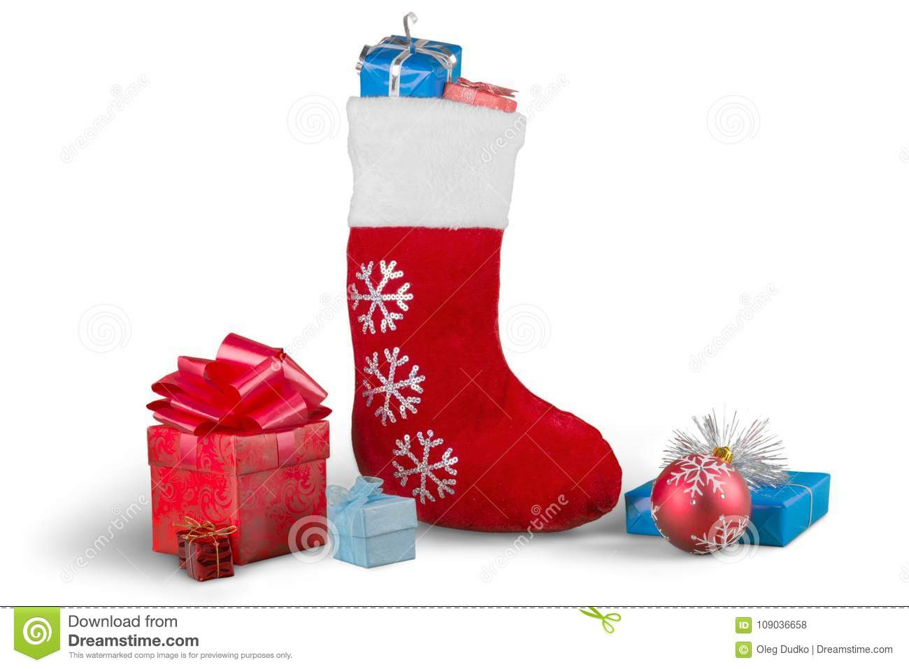christmas stocking with ornaments and small - Small Christmas Stocking Decorations