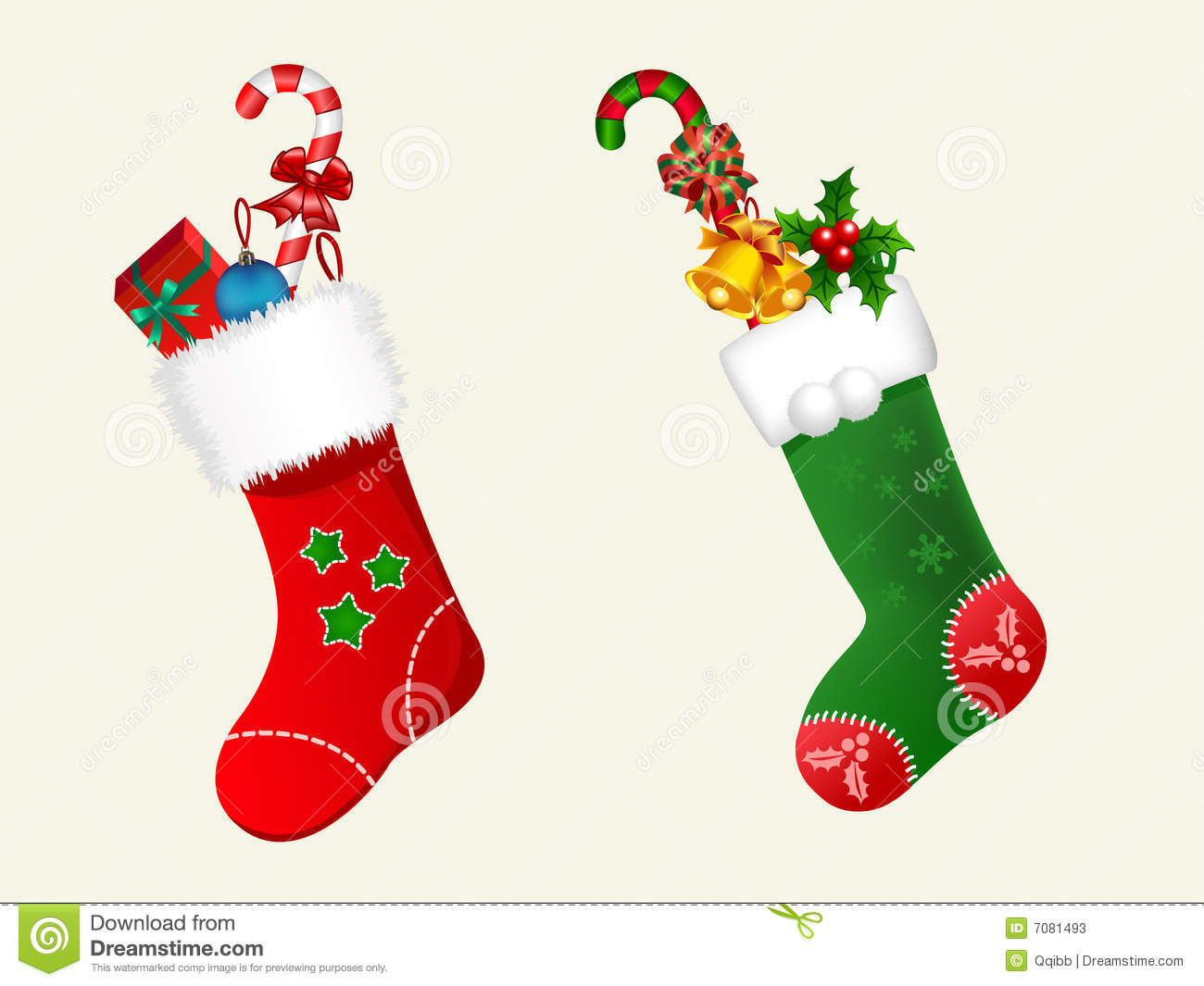 Christmas Stockings Stock Photos - Image: 7081493