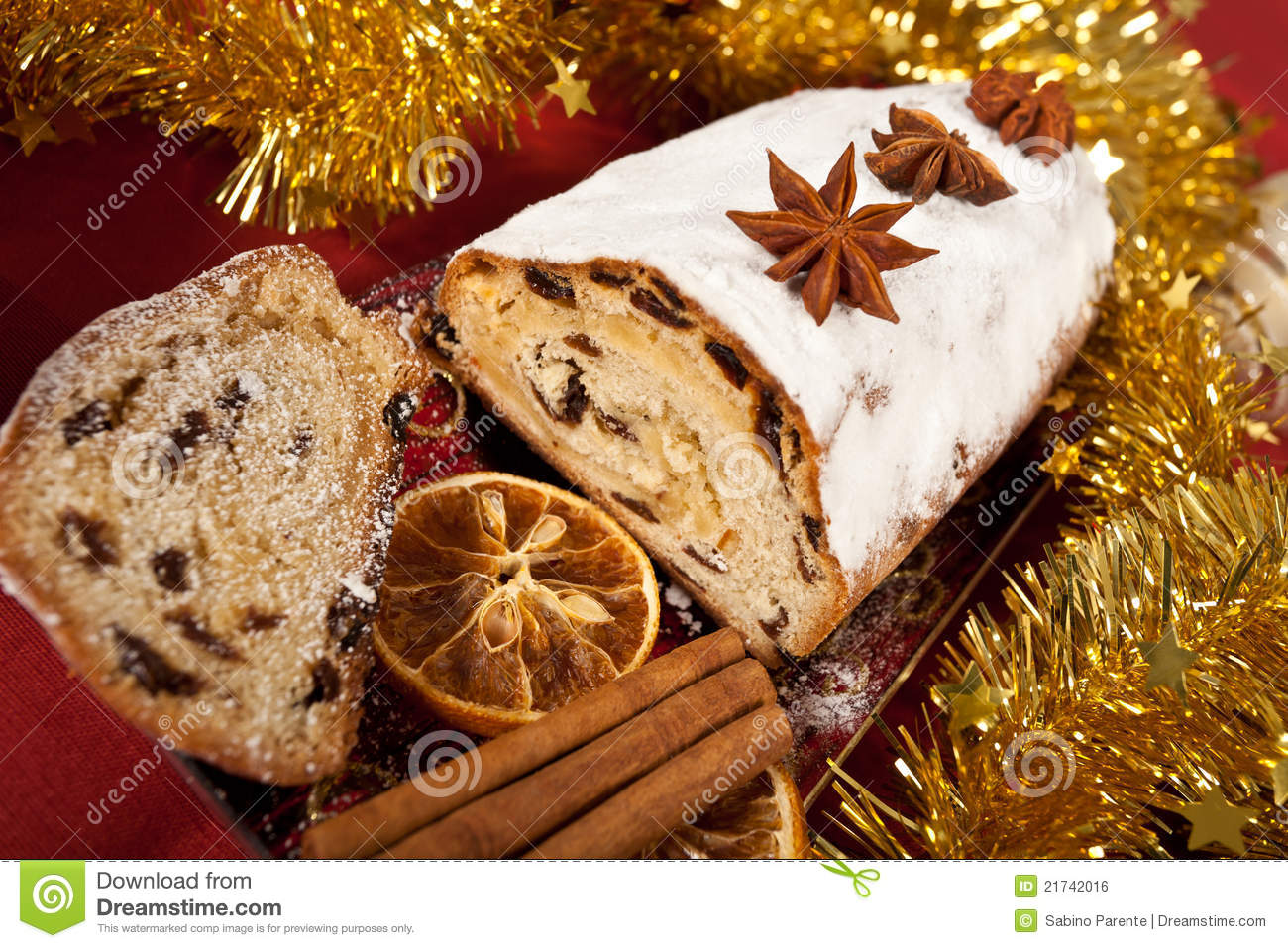 Christmas Stollen Royalty Free Stock Image - Image: 21742016
