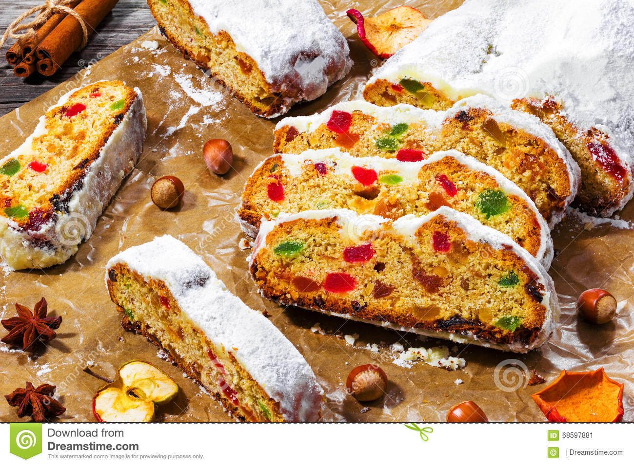 Christmas Stollen, Traditional German Christmas Cake With Dried ...