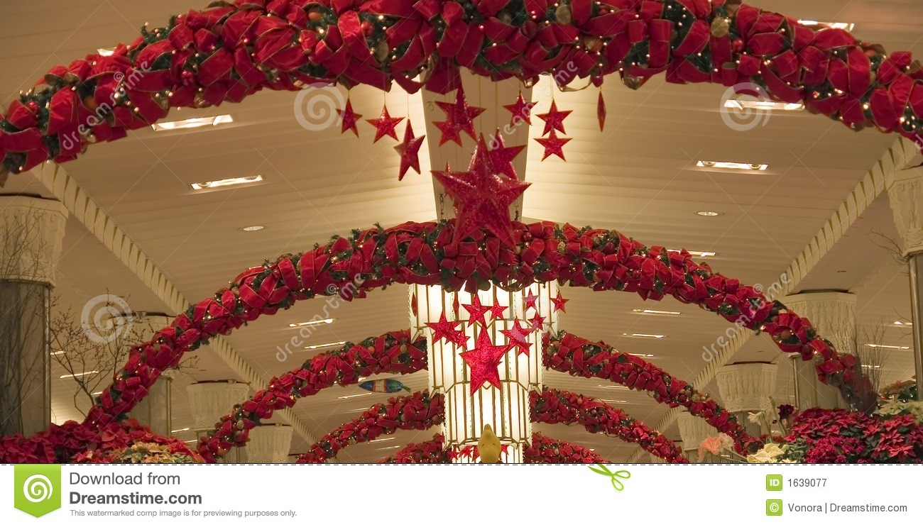 Christmas Store Decoration Royalty Free Stock Photography Image