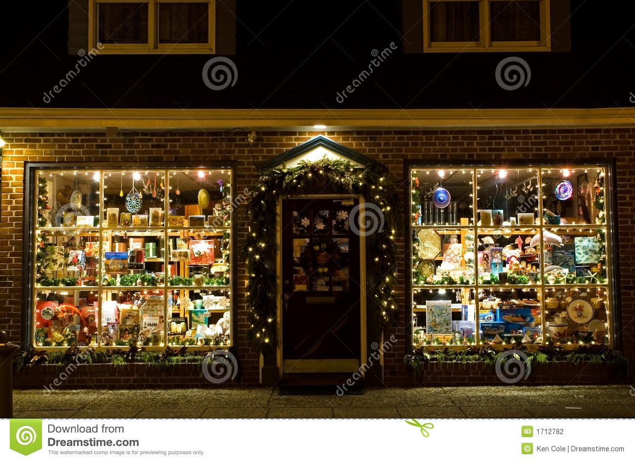 Christmas Storefront Stock Photo Image Of Window Door