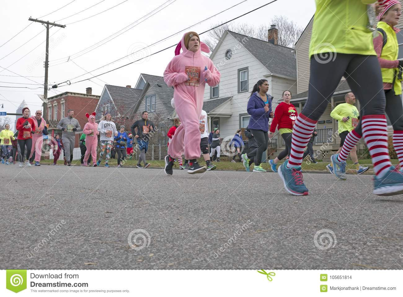 A Christmas Story Annual Run/Walk in Cleveland, Ohio, USA
