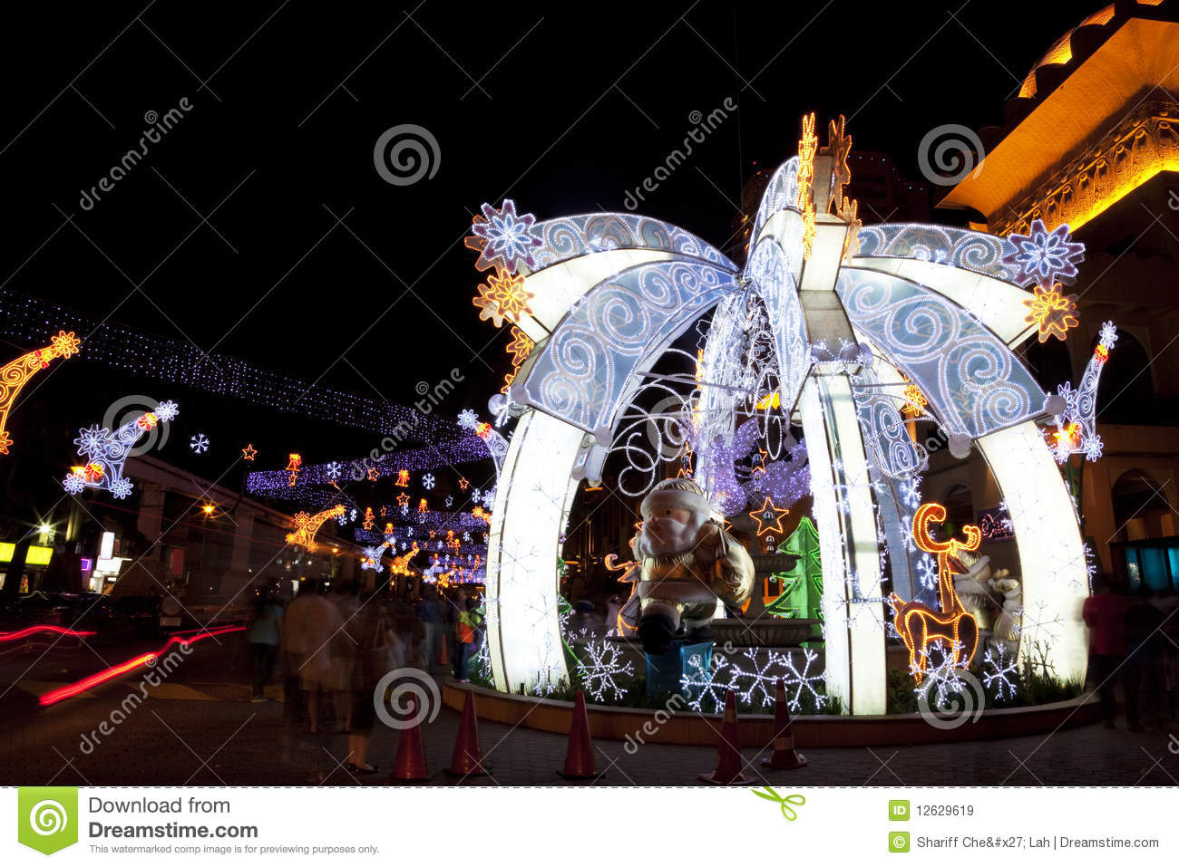 Christmas Decorations Johnston Street : Christmas street decoration royalty free stock images