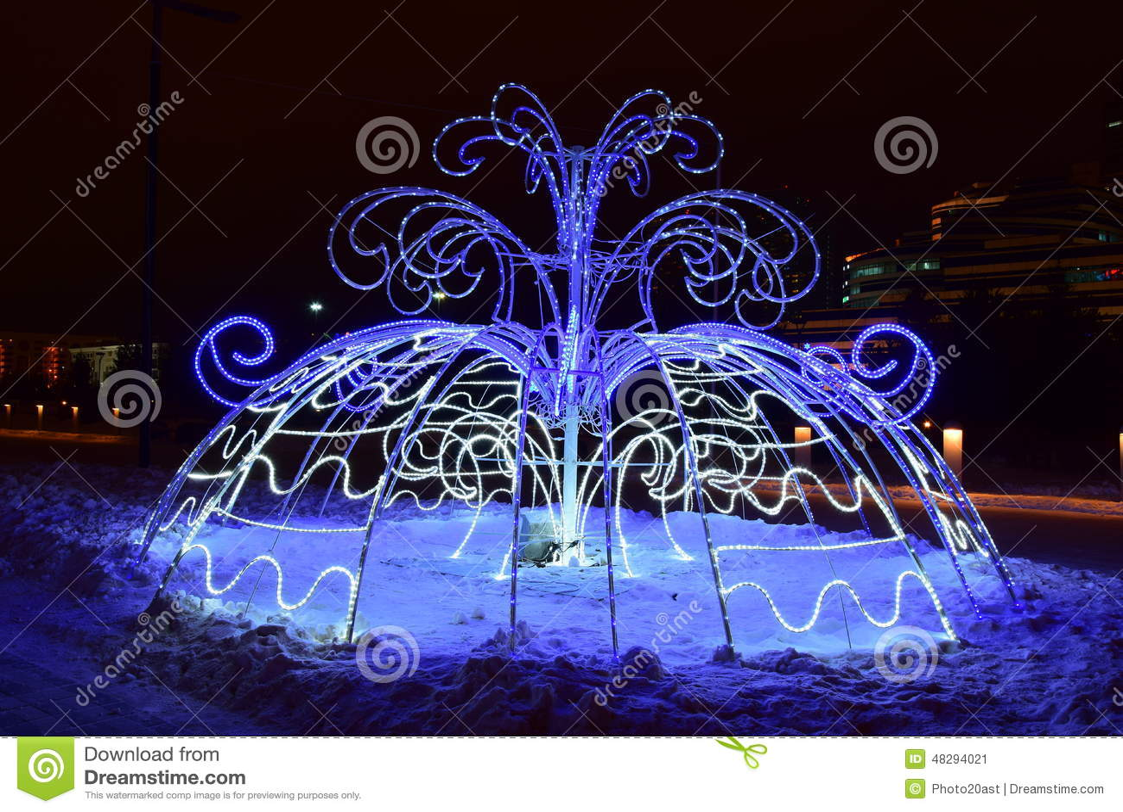 Christmas street decoration in astana kazakhstan - Les plus belle decoration de noel ...