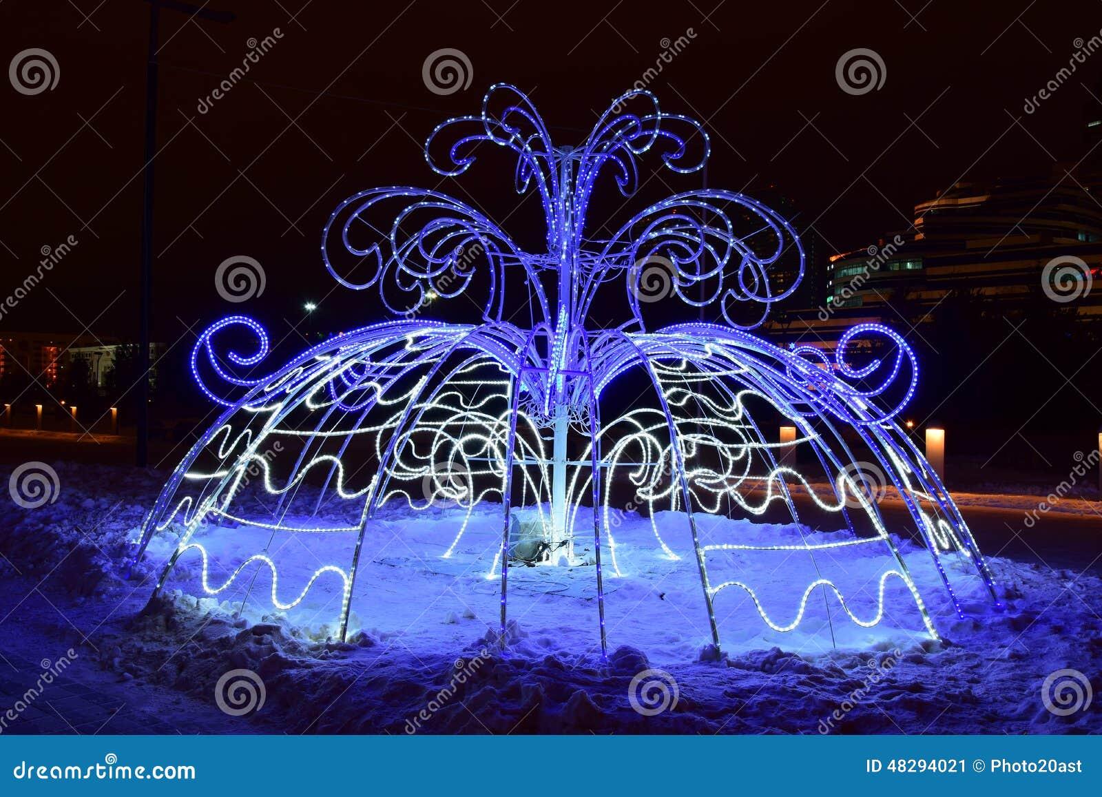 Christmas Street Decoration In Astana Kazakhstan