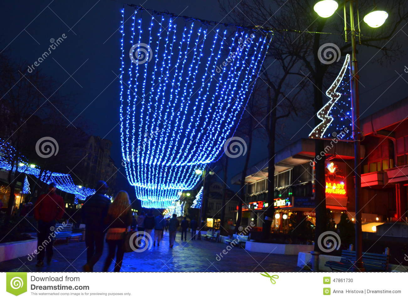 Christmas street decoration editorial image image 47861730 for Decoration de noel professionnel