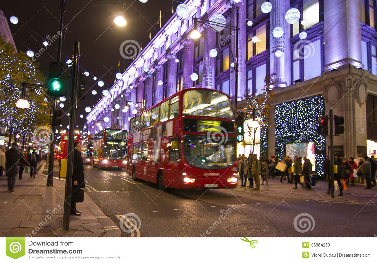 #582F9C Christmas Street Decorations In London Editorial Stock  6443 decoration noel londres 2016 1300x910 px @ aertt.com