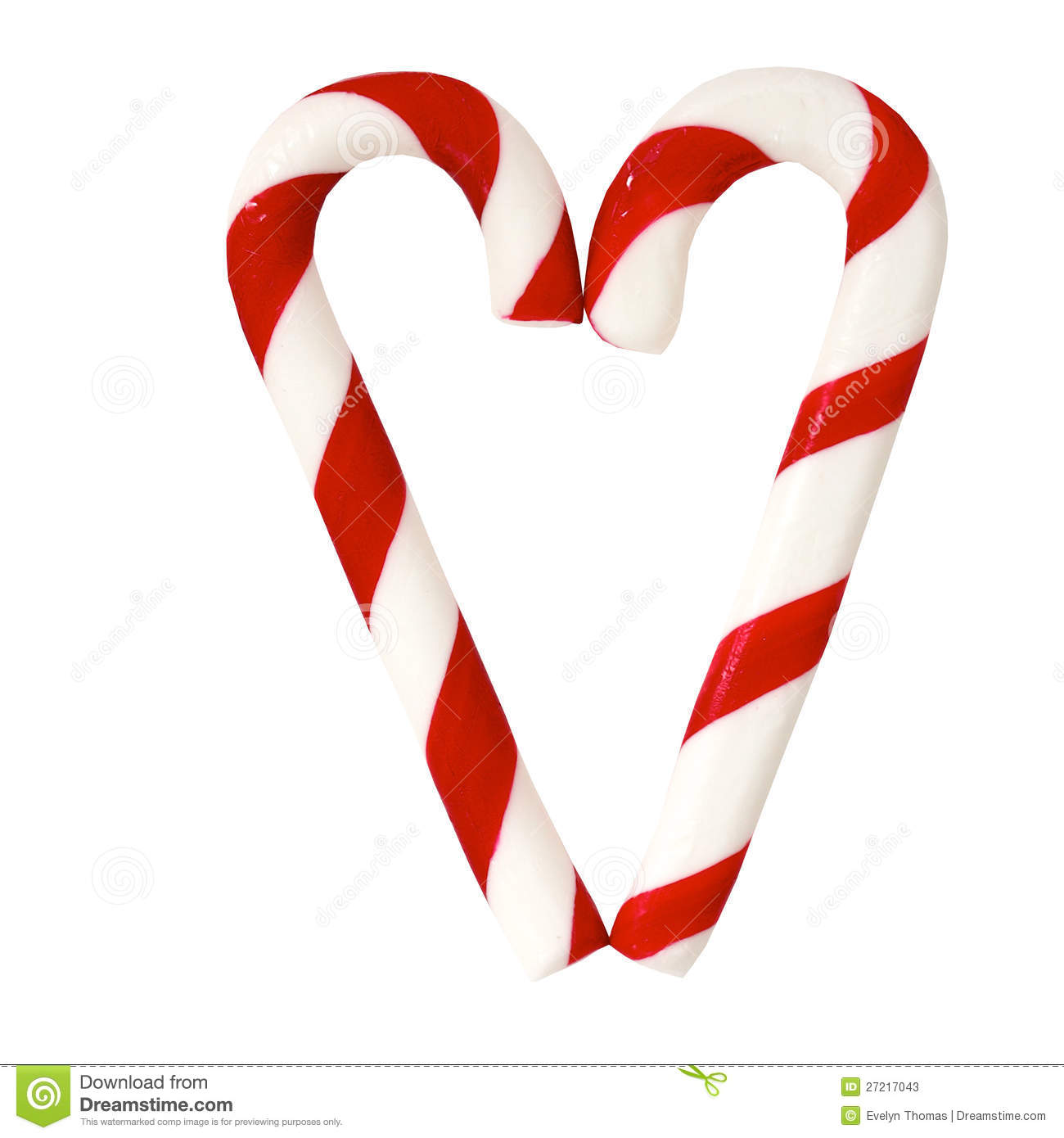 Christmas Sugar Candy Cones Forming A Heart Stock Image Image Of