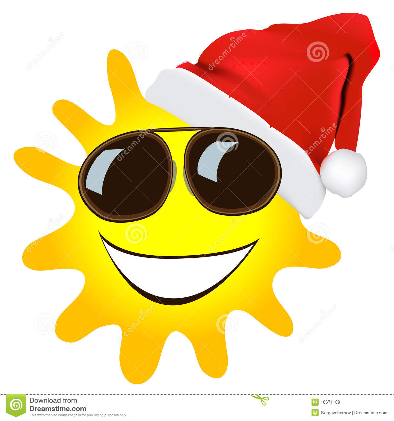 Christmas Sun Cartoon Royalty Free Stock Images - Image: 16671109