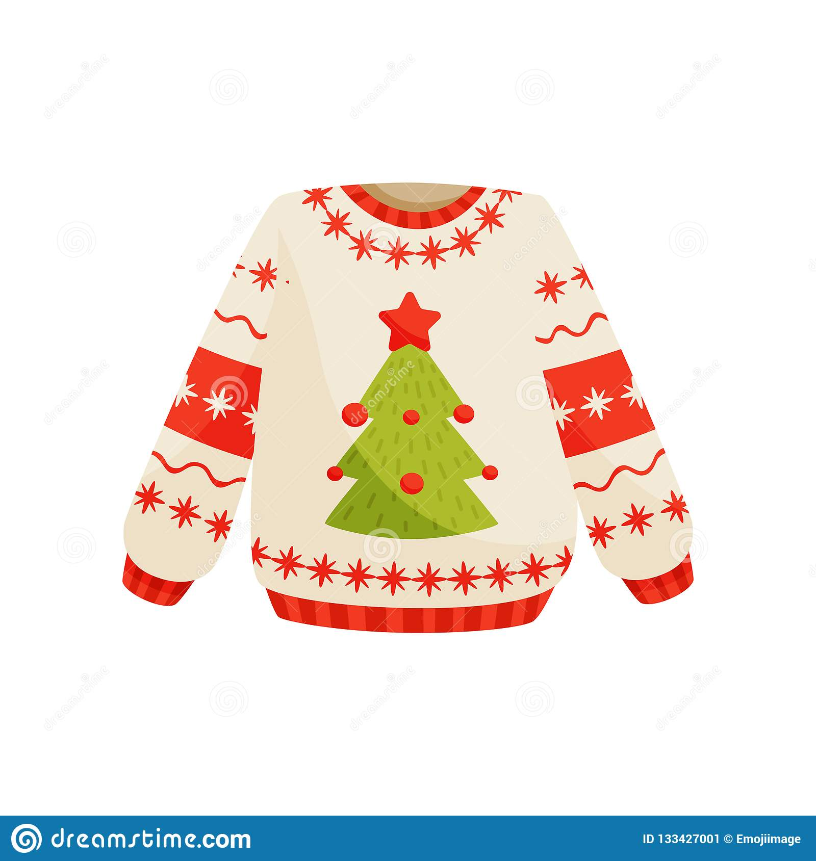 43150c64645c Christmas Sweater With Cute Holiday Ornament