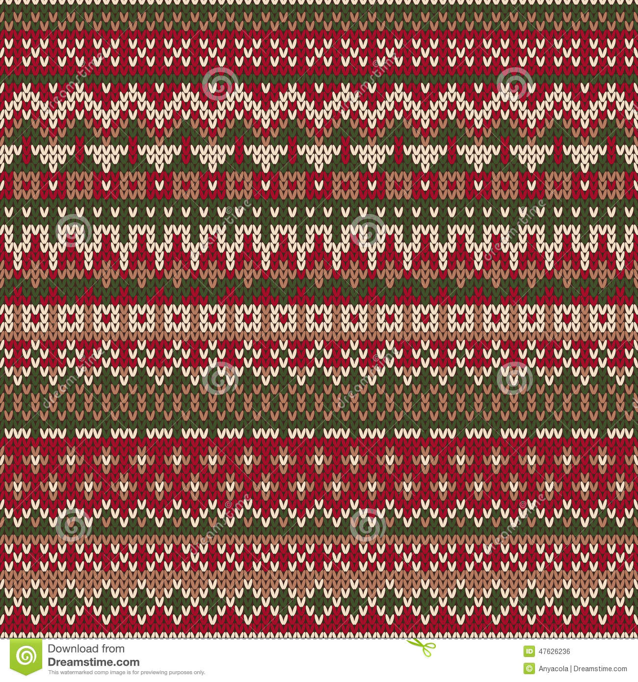 Christmas Sweater Design. Seamless Knitted Pattern In Traditiona ...