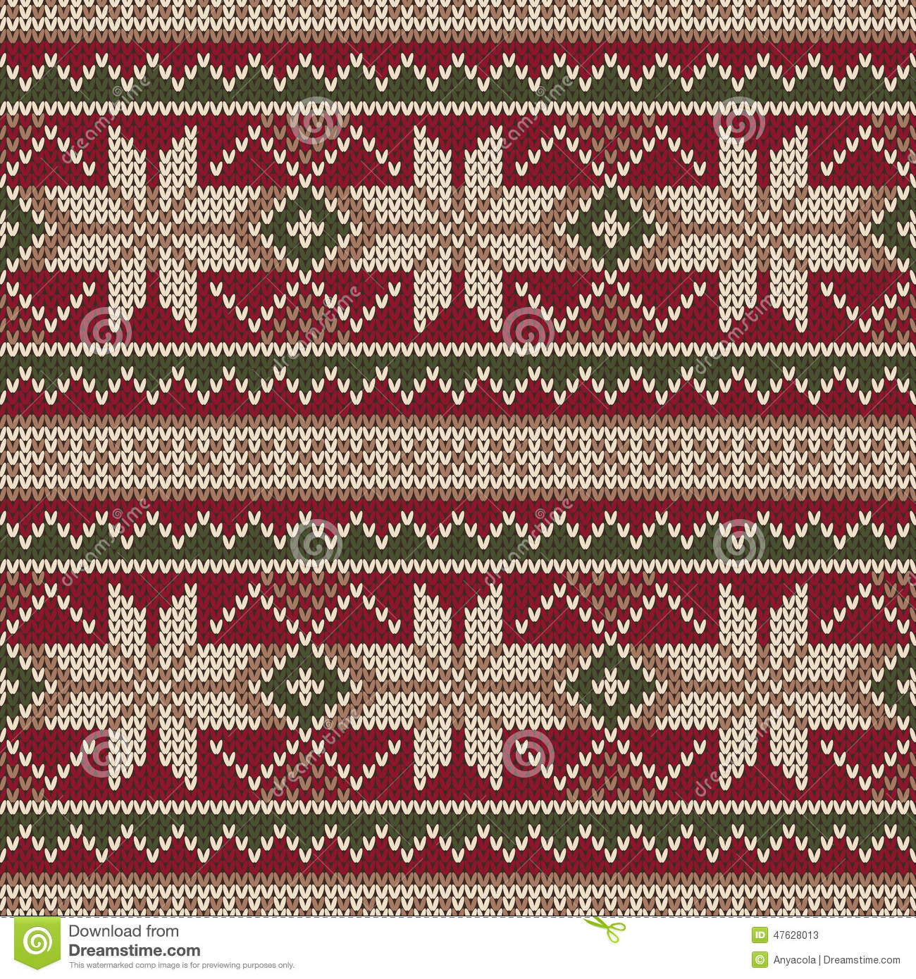 Christmas Sweater Design. Seamless Knitting Pattern. Winter Holi Stock Vector...