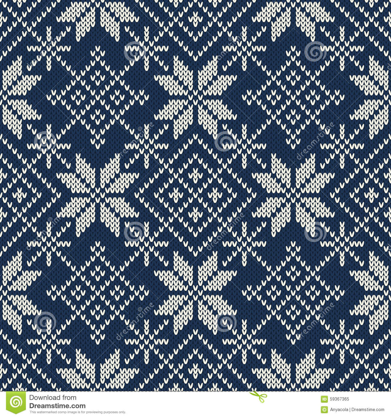 Knitting Vector Patterns : Christmas sweater design seamless knitting pattern stock