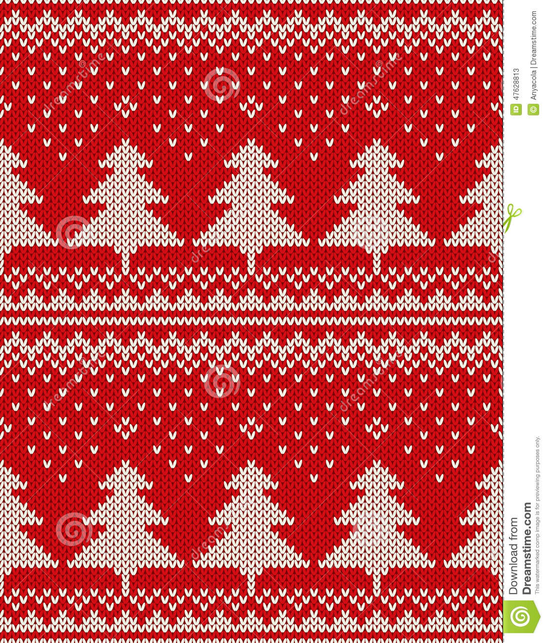 Christmas Sweater Design. Seamless Pattern With Christmas Trees ...