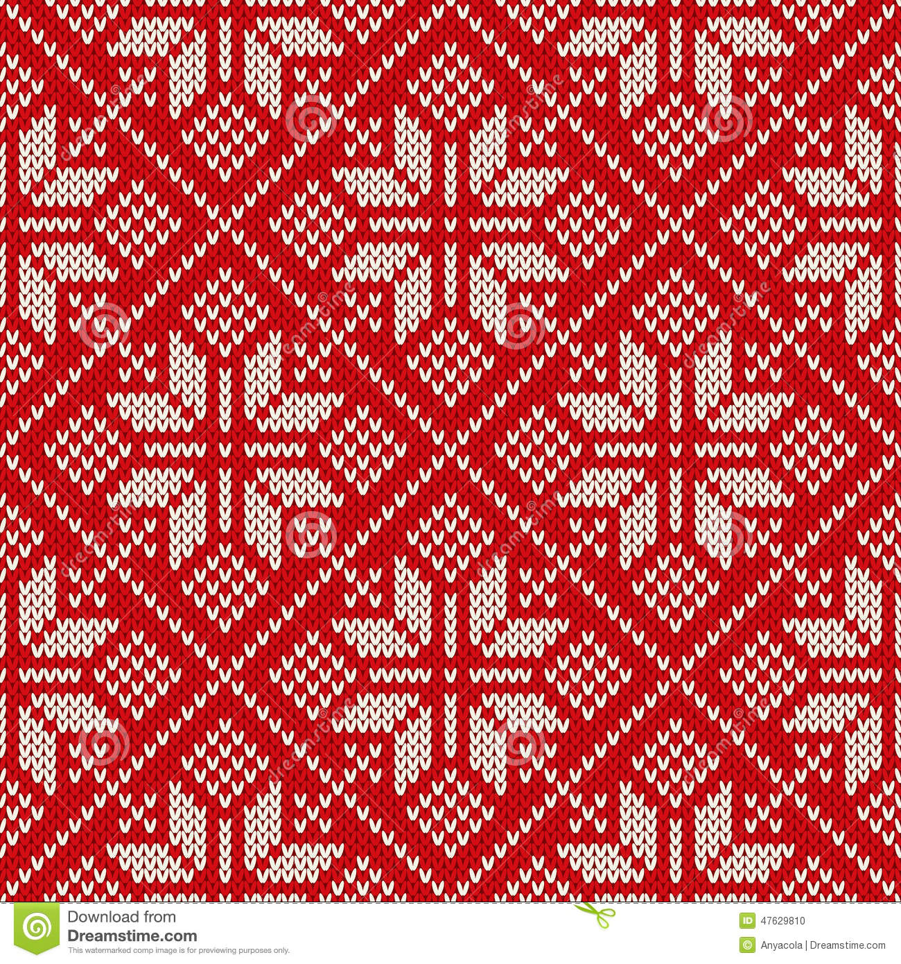 Christmas Sweater Design On The Wool Knitted Texture. Seamless P Stock Vector...
