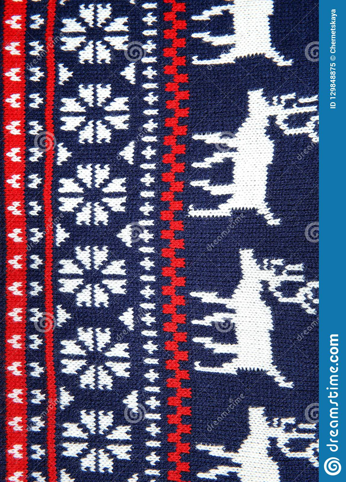 Christmas Sweater With Pattern As Background Stock Image ...