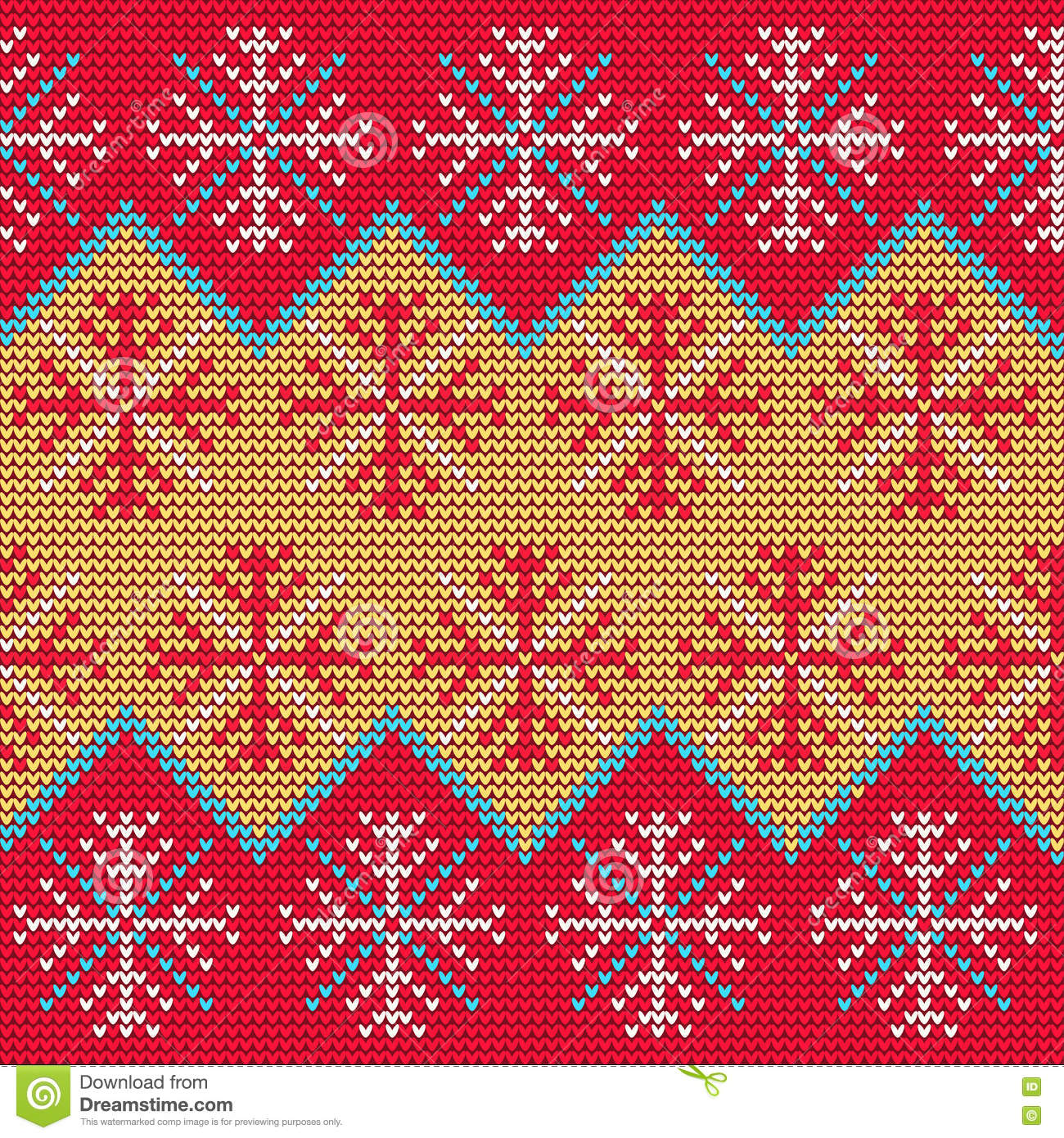 Christmas Sweater Pattern9 stock vector. Image of ...