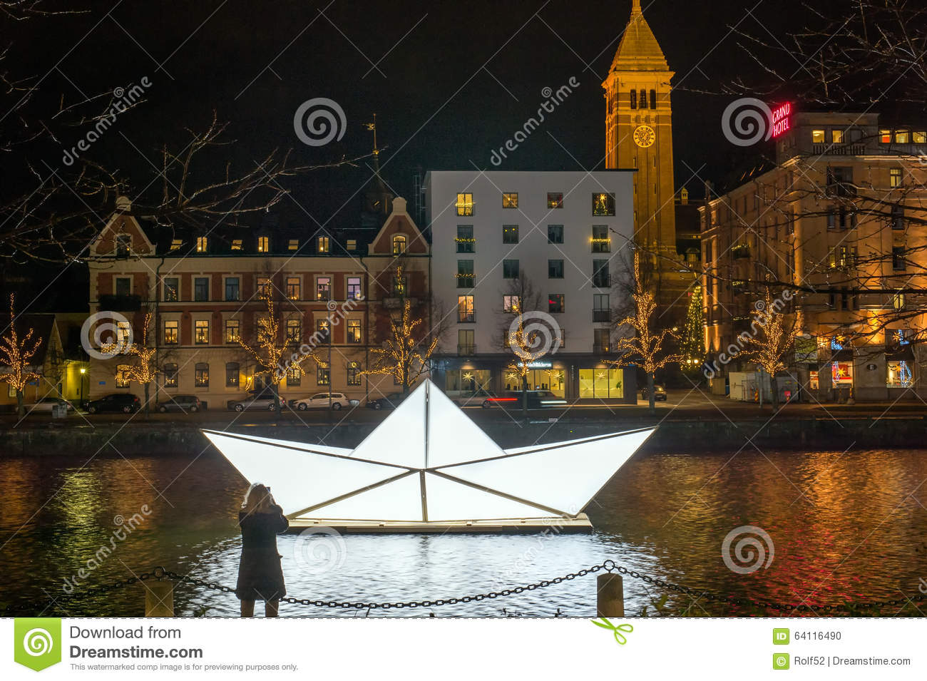 Christmas In Sweden.Christmas In Sweden Editorial Image Image Of Norrkoping