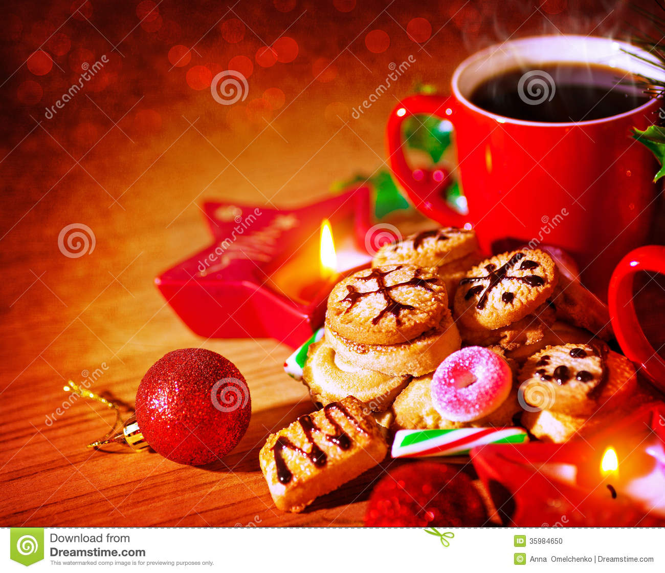 Christmas Sweets Still Life Stock Photo Image 35984650