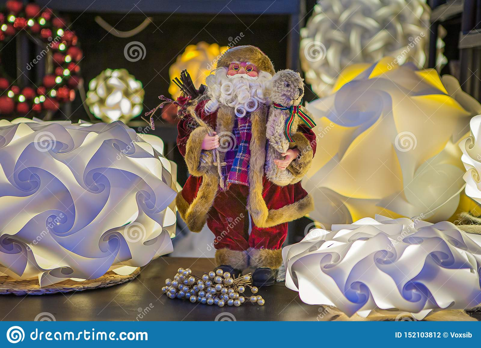 Festive Santa Claus, gives joy.