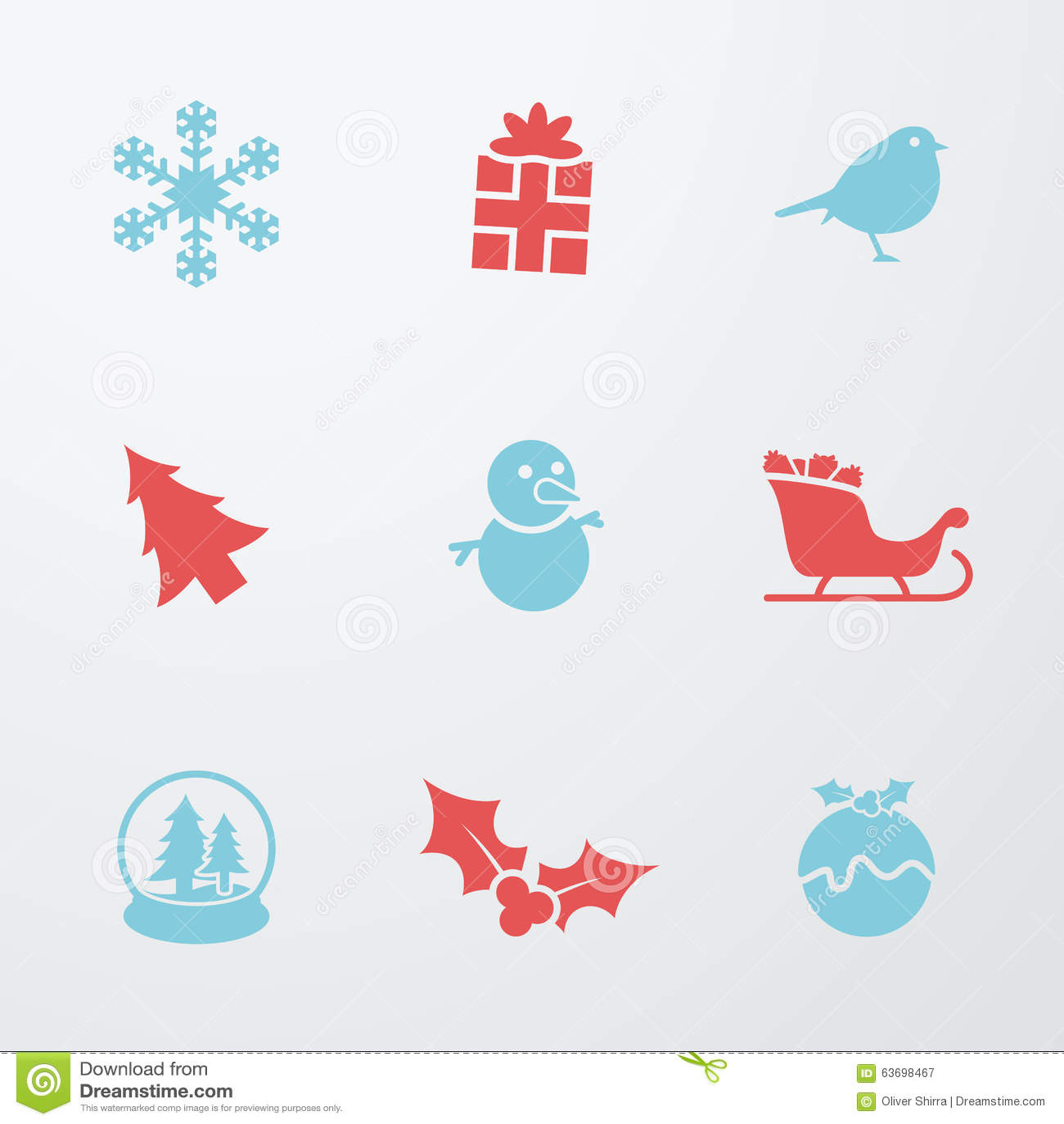 Christmas symbols 9 icons set stock vector illustration of christmas symbols 9 icons set biocorpaavc