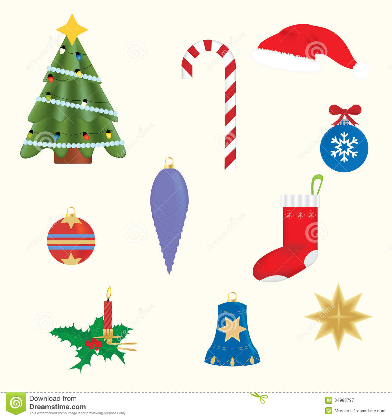 Is A Christmas Tree A Religious Symbol: Christmas Symbols Royalty Free Stock Photography