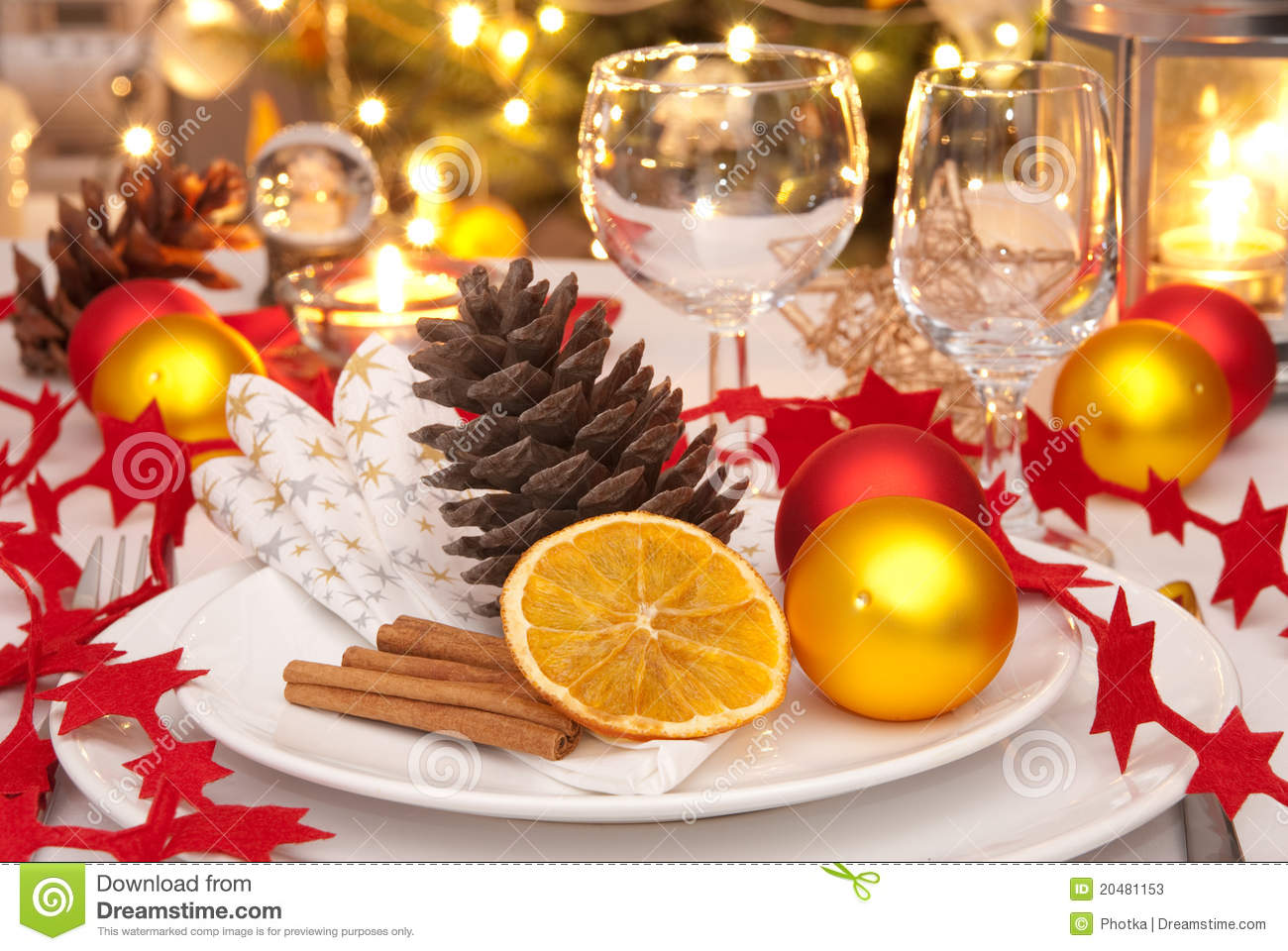 Christmas Table Stock Photos Image 20481153