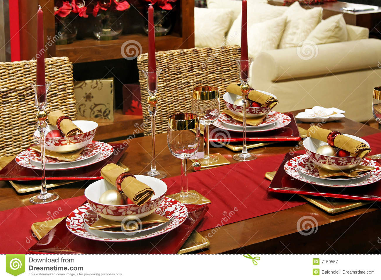 Christmas table royalty free stock photography image Christmas table dressing