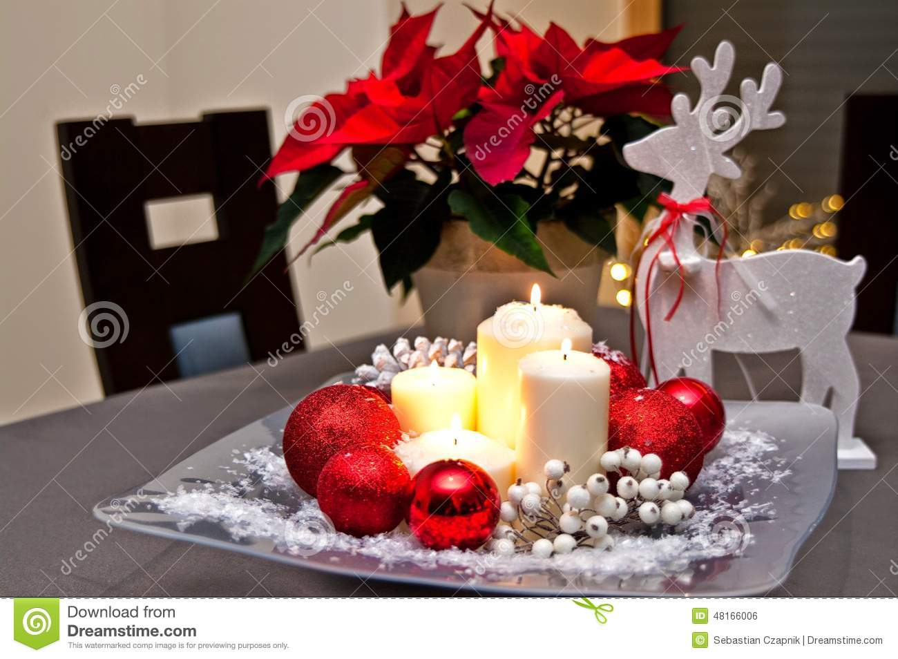 #BC0F18 Christmas Table Decoration Stock Photo Image: 48166006 5271 decoration table noel mauve 1300x954 px @ aertt.com