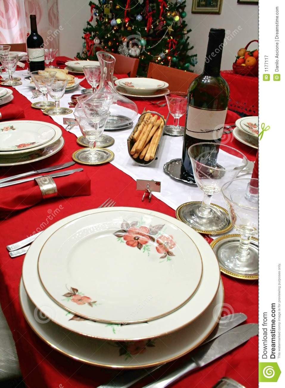 Christmas Table Setting Stock Image Image Of Drink House