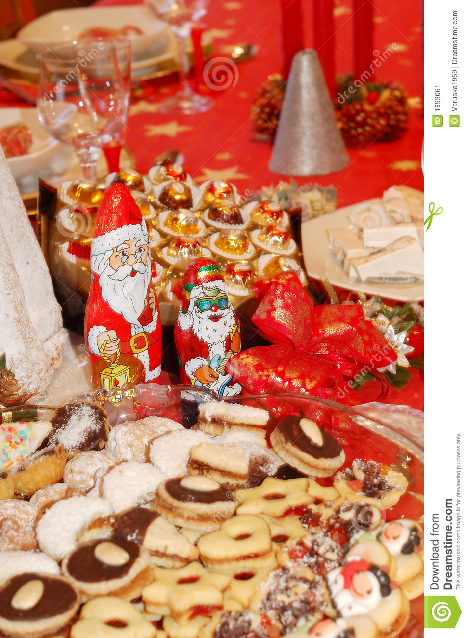 Christmas Table Setting Stock Image Image 1693061