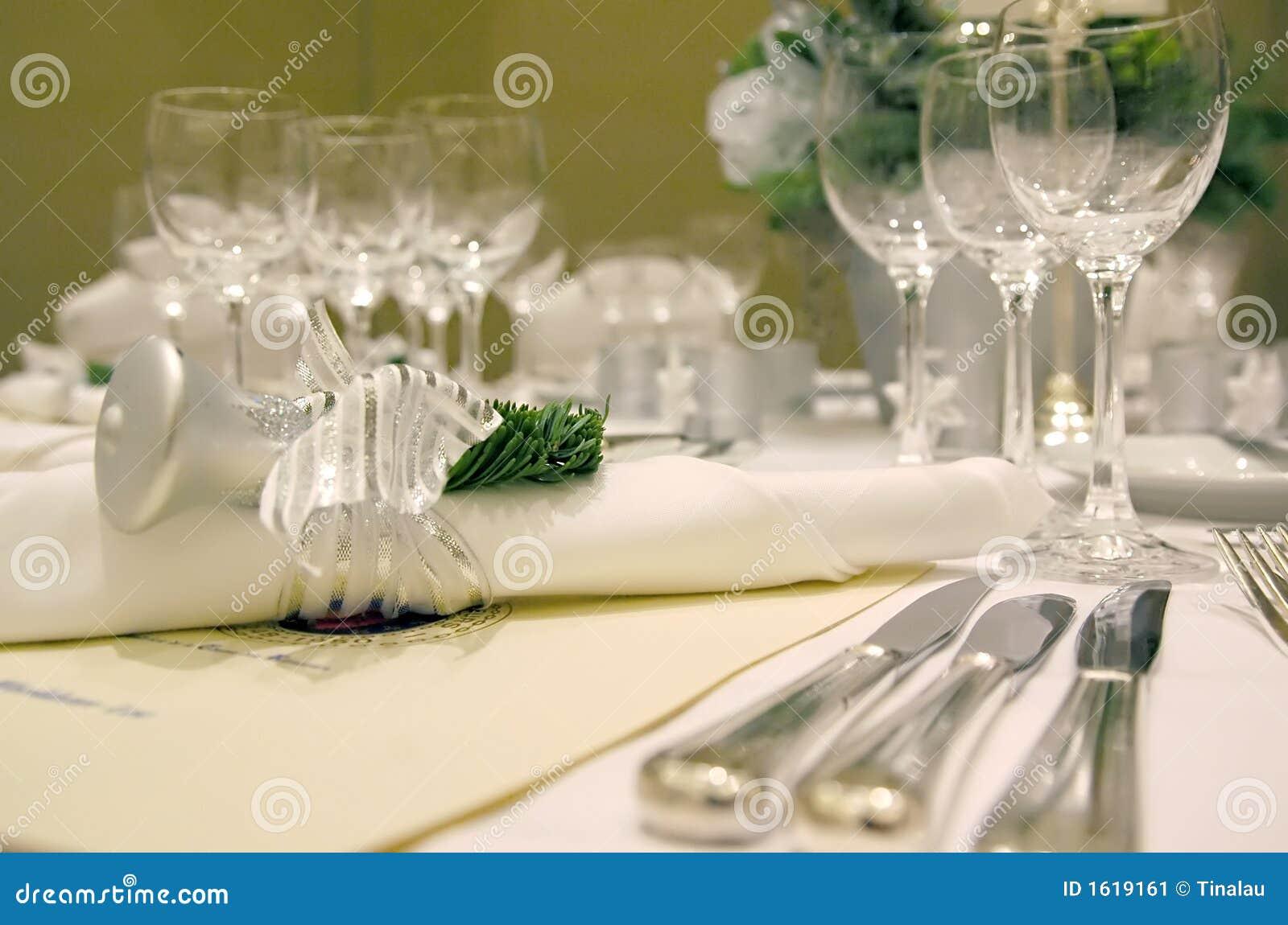 Christmas Table Setting 2 Stock Image Image 1619161