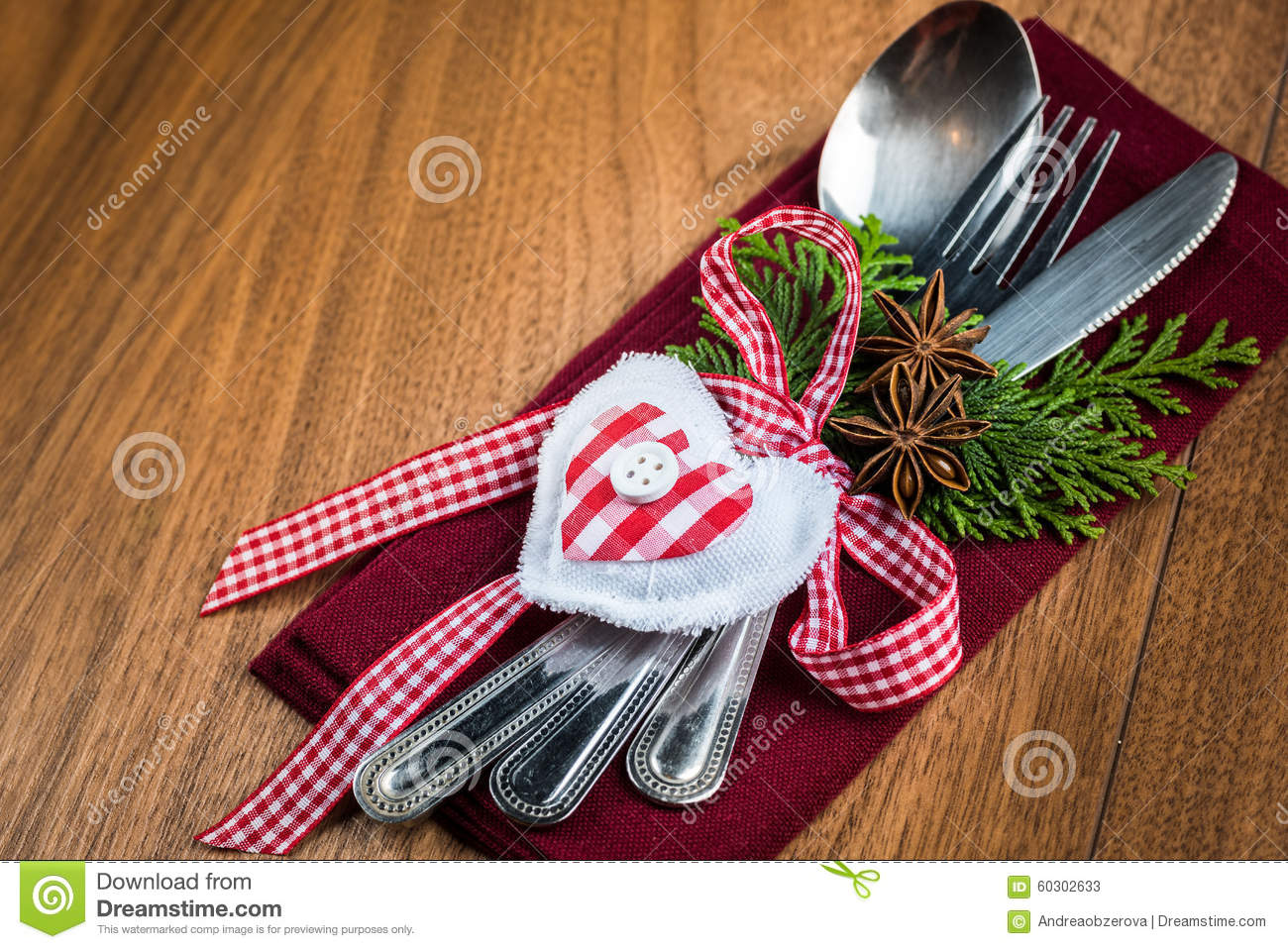 Royalty-Free Stock Photo. Download Christmas Table Setting Christmas ... & Christmas Table Setting Christmas Menu Concept In Red Green And ...