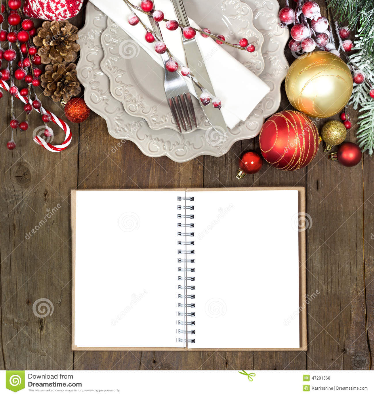 Christmas Table Setting Stock Photo Image 47281568