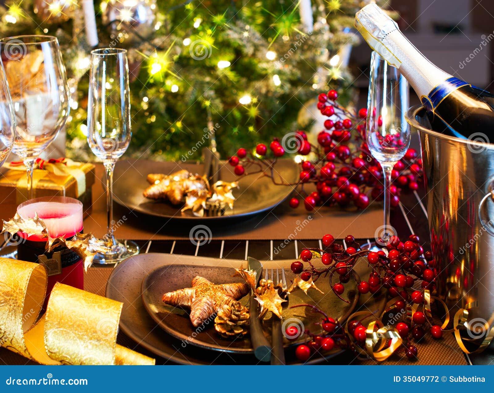 Christmas Table Setting Stock Photography Image 35049772