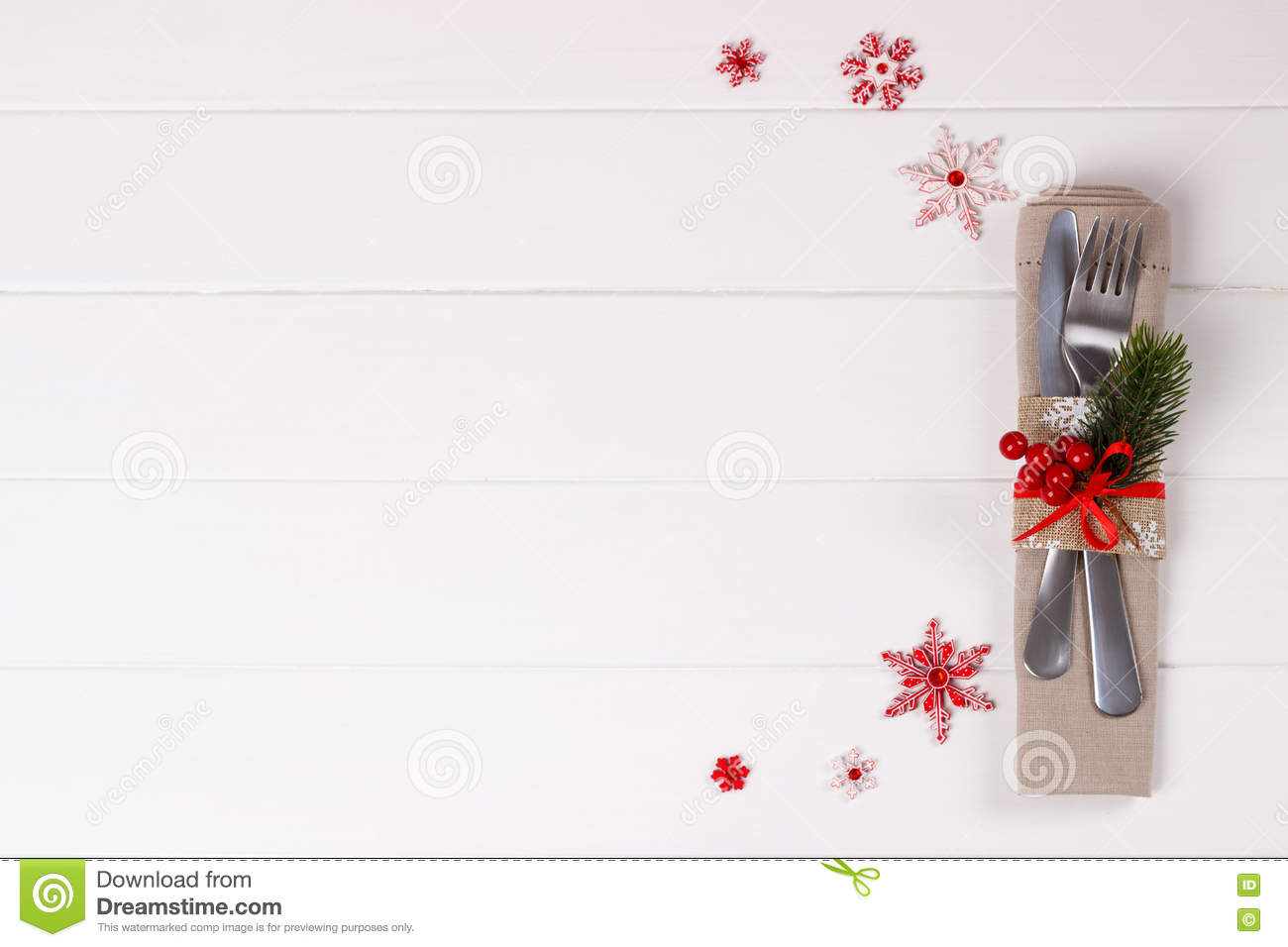 Christmas Place Settings Template