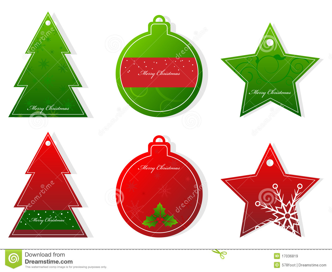 Christmas Tags Royalty Free Stock Images Image 17036819