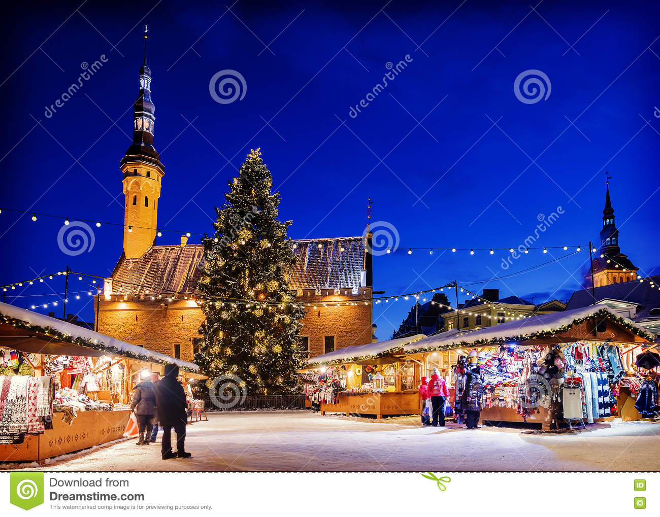 Christmas in Tallinn. Holiday Market at Town Hall Square