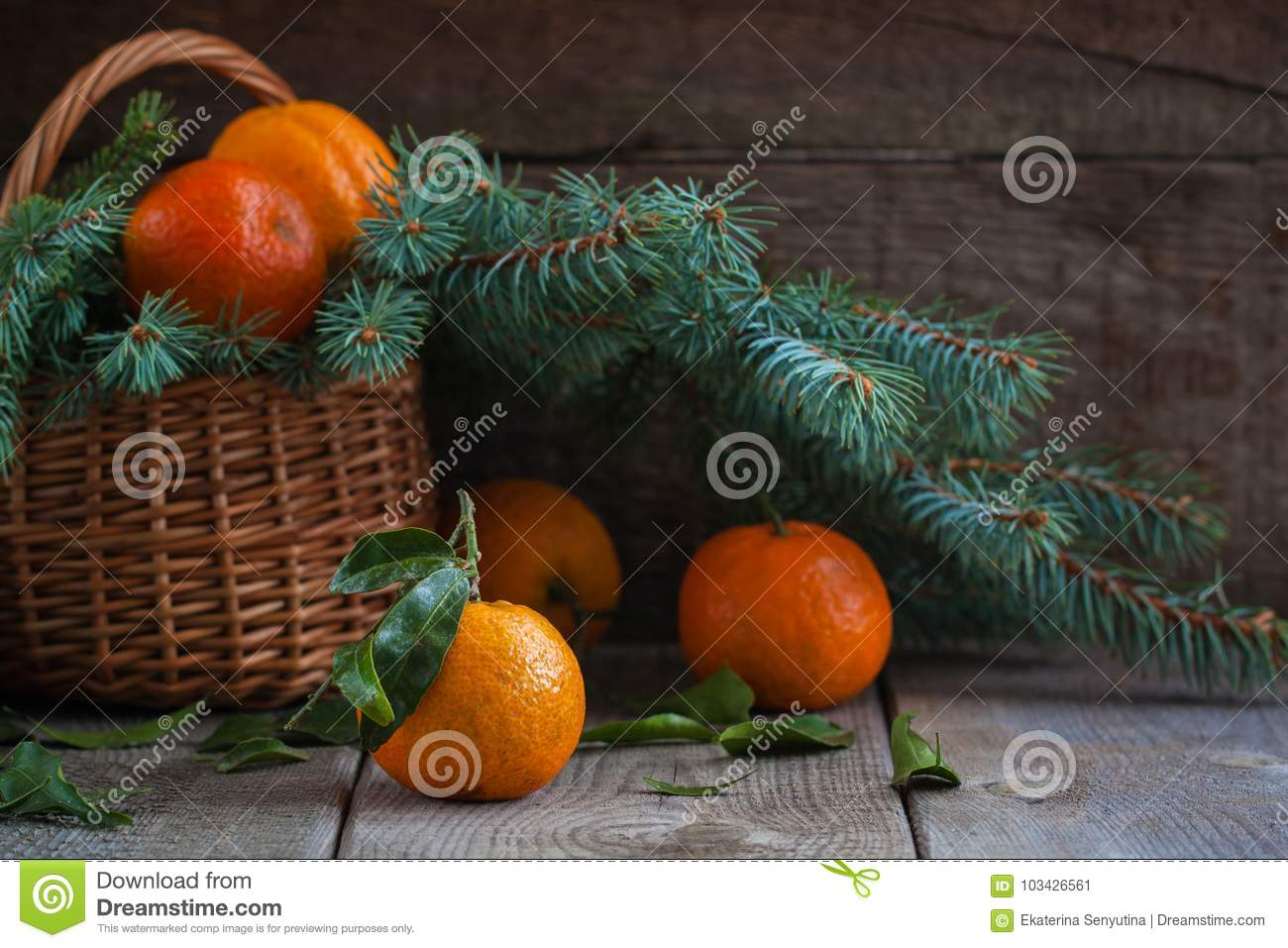 Christmas Tangerines, Old Wooden Background, Russian New ...
