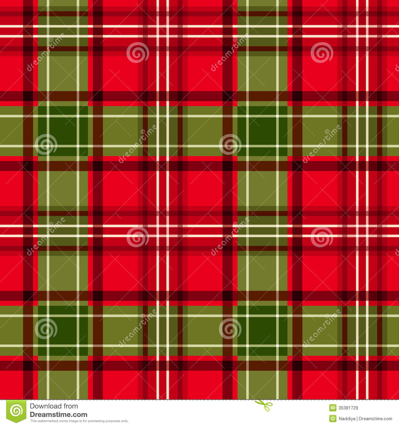 seamless background with christmas red and green tartan fabric - Christmas Plaid Fabric