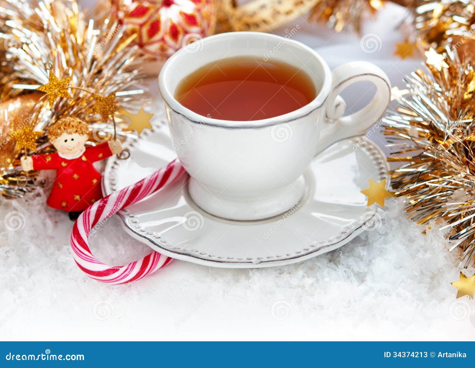 Christmas Tea Cup Stock Photos Image 34374213