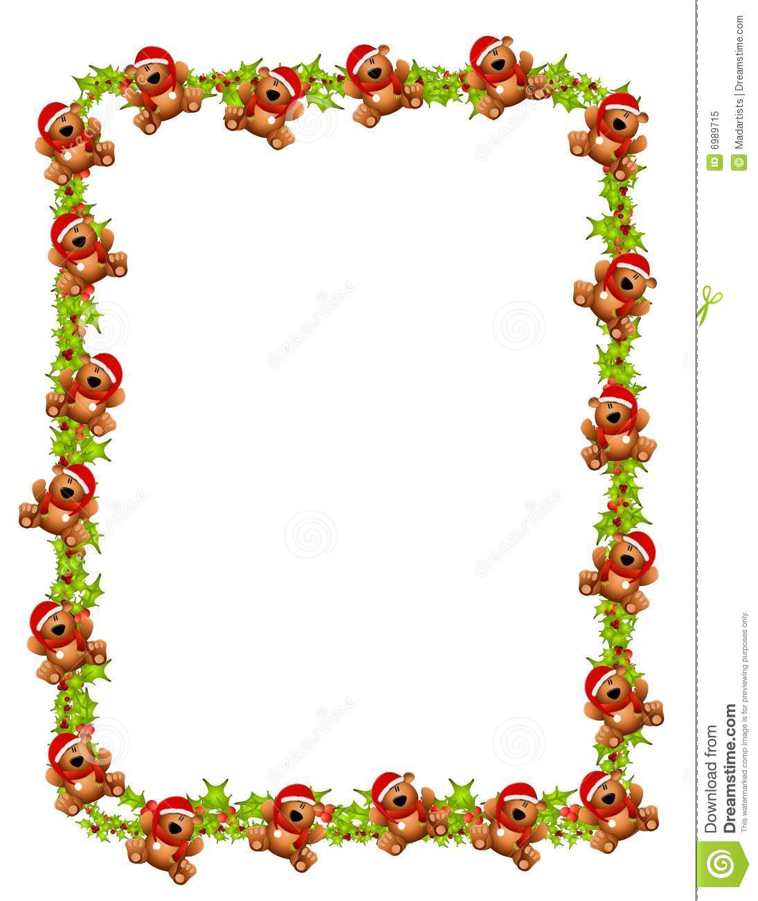 Christmas Teddy Bear Border Royalty Free Stock Photo - Image: 6989715